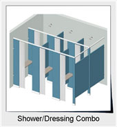 Shower/Dressing Combo