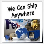 Worldwide, international shipping is available.