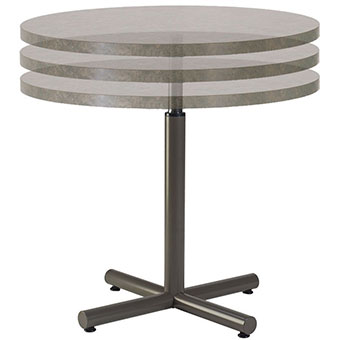 Image of a height adjustable table base with an optional table top.