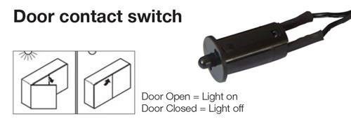 Door Contact Switch - These are great for inside a cabinet or drawer. Open the cabinet door and the light goes on. Close the door and the light goes off.  sc 1 st  Harbor City Supply & LED Lighting | Types of Switches - Harbor City Supply