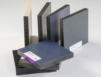 Assortment of Solid Phenolic partition material samples.