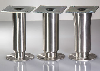 Image of Stainless Steel Heavy Duty Bolt Down Cabinet Legs.