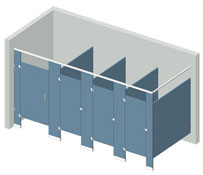 Illustration of an Overhead Braced partition configuration.