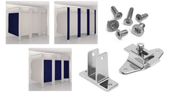 Some of the materials typically included in a partition order: dividers, brackets, latches, fasteners.
