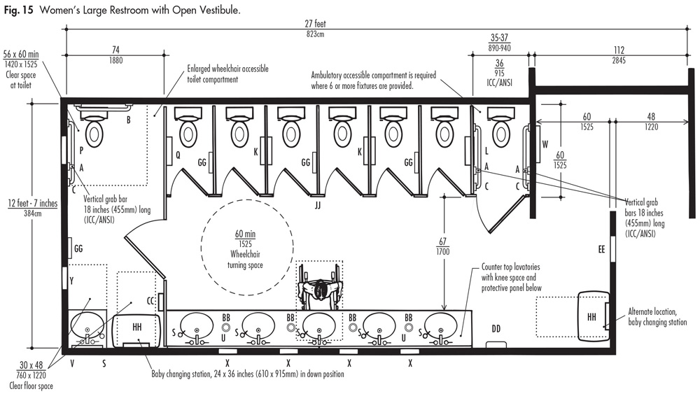 Public Bathrooms Plan Public Bathrooms Plan L Activavidaco - Handicap bathroom design plans